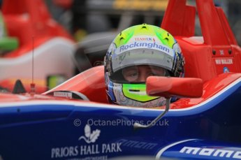 © Octane Photographic Ltd. The British F3 International & British GT Championship at Rockingham. Will Buller perparing to head out on track. Digital Ref: 0188LW7D2470