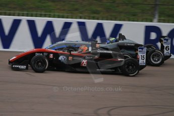 © Octane Photographic Ltd. The British F3 International & British GT Championship at Rockingham. Scott Pye; T-Sport powered by Volkswagen and Scott Pye from Double R; Dallara on track. Digital Ref: 0188LW7D2615
