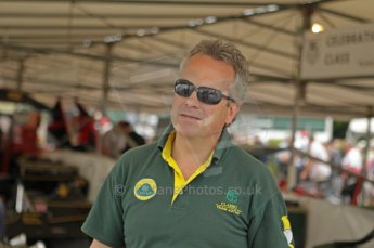 © Octane Photographic 2011. Goodwood Festival of Speed, Thursday 30th June 2011. Clive Chapman of Classic Team Lotus. Digital Ref : 0097CB1D9896