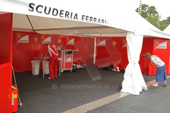 © Octane Photographic 2011. Goodwood Festival of Speed, Thursday 30th June 2011. Ferrari show garage. Digital Ref : 0097CB1D9933