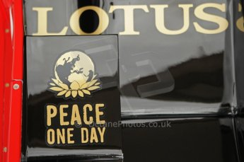 © Octane Photographic 2011. Goodwood Festival of Speed, Thursday 30th June 2011. Lotus - Peace One Day. Digital Ref : 0097CB1D9934