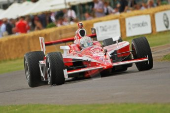 © Octane Photographic 2011. Dan Wheldon Taking a Chip Ganissi car up the hill. Goodwood Festival of Speed, Thursday 30th June 2011. Digital Ref : 0097CB7D671
