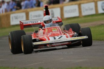 © Octane Photographic 2011. Goodwood Festival of Speed, TFriday 1st July 2011. Ex-Lauda Ferrari 312B3. Digital Ref : 0097CB7D6790