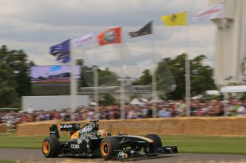 © Octane Photographic 2011. Goodwood Festival of Speed, Friday 1st July 2011. Lotus T126 driven by Luiz Razia. Digital Ref : 0097LW7D8693