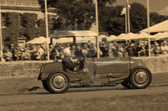 © Octane Photographic 2011. Goodwood Festival of Speed, Friday 1st July 2011. Digital Ref : 0101CB17533-sepia
