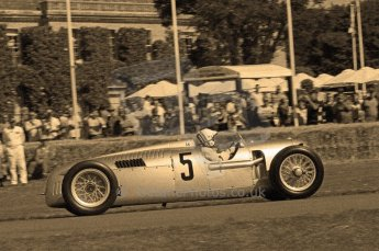 © Octane Photographic 2011. Goodwood Festival of Speed, Historic F1 Auto Union, Friday 1st July 2011. Digital Ref : 0101CB17552-sepia