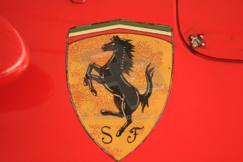 © Octane Photographic 2011 – Goodwood Revival 17th September 2011. Ferrari D50 painted logo, Historic F1. Digital Ref : 0179cb1d4269