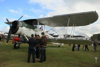 © Octane Photographic 2011 – Goodwood Revival 18th September 2011. Swordfish torpedo bomber on thw flightline. Digital Ref : 0179cb1d4711