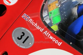 "© Octane Photographic 2011 – Goodwood Revival 17th September 2011. Ford F3L of Richard ""Dickie"" Attwood. Digital Ref : 0179CB1D4582"