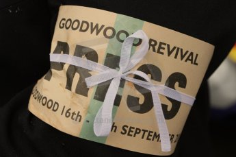 © Octane Photographic 2011 – Goodwood Revival 17th September 2011 press armband. Digital Ref : 0179LW7D7297