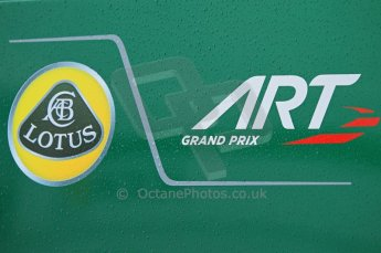 © Octane Photographic 2011. GP2 Official pre-season testing, Silverstone, Tuesday 5th April 2011. Art Grand Prix logo on transporter.Digital Ref : 0039CB1D6116