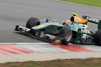 © Octane Photographic 2011. GP2 Official pre-season testing, Silverstone, Tuesday 5th April 2011. Lotus Art - Esteban Guiterrez. Digital Ref : 0039CB1D7355