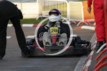 © Octane Photographic Ltd. 2011. Milton Keynes Daytona Karting, Forget-Me-Not Hospice charity racing. Sunday October 30th 2011. Digital Ref : 0194lw7d0234
