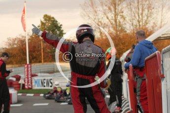 © Octane Photographic Ltd. 2011. Milton Keynes Daytona Karting, Forget-Me-Not Hospice charity racing. Sunday October 30th 2011. Digital Ref : 0194lw7d0932
