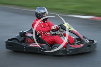 © Octane Photographic Ltd. 2011. Milton Keynes Daytona Karting, Forget-Me-Not Hospice charity racing. Sunday October 30th 2011. Digital Ref : 0194lw7d1009