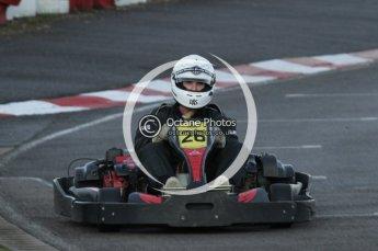 © Octane Photographic Ltd. 2011. Milton Keynes Daytona Karting, Forget-Me-Not Hospice charity racing. Sunday October 30th 2011. Digital Ref : 0194lw7d1031
