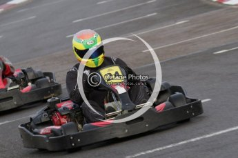 © Octane Photographic Ltd. 2011. Milton Keynes Daytona Karting, Forget-Me-Not Hospice charity racing. Ronnie Rowe. Sunday October 30th 2011. Digital Ref : 0194lw7d8355
