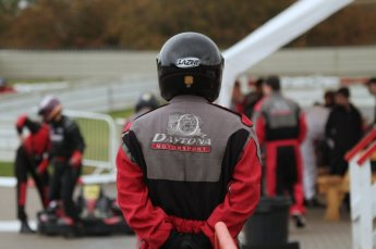 © Octane Photographic Ltd. 2011. Milton Keynes Daytona Karting, Forget-Me-Not Hospice charity racing. Sunday October 30th 2011. Digital Ref : 0194lw7d9173