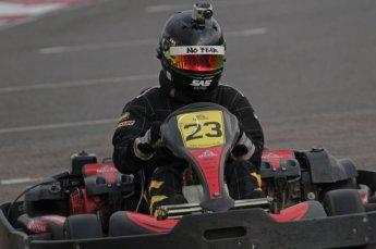 © Octane Photographic Ltd. 2011. Milton Keynes Daytona Karting, Forget-Me-Not Hospice charity racing. Sunday October 30th 2011. Digital Ref : 0194lw7d9874