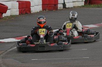 © Octane Photographic Ltd. 2011. Milton Keynes Daytona Karting, Forget-Me-Not Hospice charity racing. Sunday October 30th 2011. Digital Ref : 0194lw7d9897