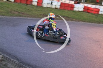 © Octane Photographic Ltd. 2011. Milton Keynes Daytona Karting, Forget-Me-Not Hospice charity racing. Sunday October 30th 2011. Digital Ref : 0194cb7d0132