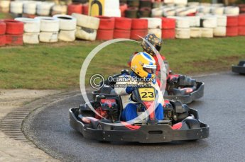 © Octane Photographic Ltd. 2011. Milton Keynes Daytona Karting, Forget-Me-Not Hospice charity racing. Sunday October 30th 2011. Digital Ref : 0194cb7d9370
