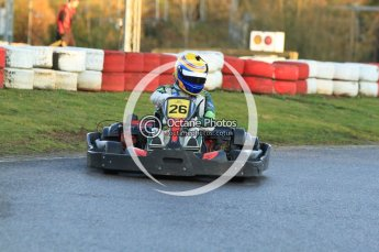 © Octane Photographic Ltd. 2011. Milton Keynes Daytona Karting, Forget-Me-Not Hospice charity racing. Sunday October 30th 2011. Digital Ref : 0194cb7d9512