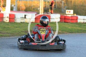 © Octane Photographic Ltd. 2011. Milton Keynes Daytona Karting, Forget-Me-Not Hospice charity racing. Sunday October 30th 2011. Digital Ref : 0194cb7d9529