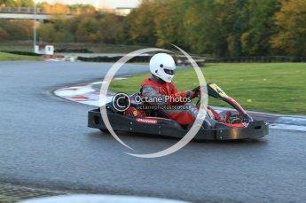 © Octane Photographic Ltd. 2011. Milton Keynes Daytona Karting, Forget-Me-Not Hospice charity racing. Sunday October 30th 2011. Digital Ref : 0194cb7d9558