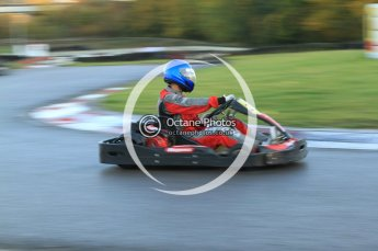 © Octane Photographic Ltd. 2011. Milton Keynes Daytona Karting, Forget-Me-Not Hospice charity racing. Sunday October 30th 2011. Digital Ref : 0194cb7d9593