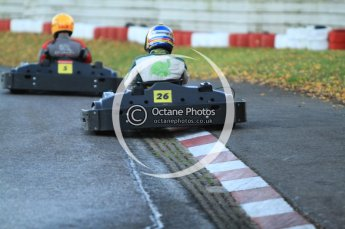 © Octane Photographic Ltd. 2011. Milton Keynes Daytona Karting, Forget-Me-Not Hospice charity racing. Sunday October 30th 2011. Digital Ref : 0194cb7d9634