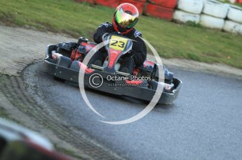 © Octane Photographic Ltd. 2011. Milton Keynes Daytona Karting, Forget-Me-Not Hospice charity racing. Sunday October 30th 2011. Digital Ref : 0194cb7d9771