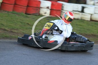 © Octane Photographic Ltd. 2011. Milton Keynes Daytona Karting, Forget-Me-Not Hospice charity racing. Sunday October 30th 2011. Digital Ref : 0194cb7d9983