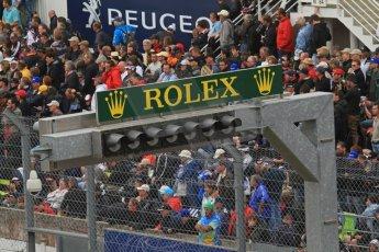 © Octane Photographic 2011. Le Mans finish line and podium - Sunday 11th June 2011. La Sarthe, France. Digital Ref : 0263lw7d7509