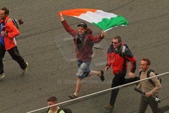 © Octane Photographic 2011. Le Mans finish line and podium - Sunday 11th June 2011. La Sarthe, France. Digital Ref : 0263lw7d8107