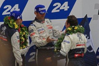 © Octane Photographic 2011. Le Mans finish line and podium - Sunday 11th June 2011. La Sarthe, France. Digital Ref : 0263lw7d8144