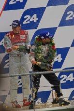 © Octane Photographic 2011. Le Mans finish line and podium - Sunday 11th June 2011. La Sarthe, France. Digital Ref : 0263lw7d8346