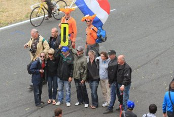 © Octane Photographic 2011. Le Mans finish line and podium - Sunday 11th June 2011. La Sarthe, France. Digital Ref : 0263lw7d8379