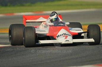 © Octane Photographic Ltd. 2011 Masters Racing Espiritu de Montjuic, April 8th 2011. McLaren MP4/1. Grand Prix masters, Historic Formula 1 racing. Digital Ref : 0042CB1D0246