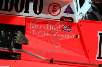 © Octane Photographic Ltd. 2011 Masters Racing Espiritu de Montjuic, April 8th 2011. Ex-James Hunt McLaren M26, d'Anbsembourg. Grand Prix masters, Historic Formula 1 racing. Digital Ref : 0042CB7D0380