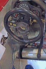 World © Octane Photographic Ltd. Race Retro 25th February 2011. Historic F1 cars. Jody Scheckter Ferrari 314T4 steering wheel. Digital Ref : 0644cb40d5576