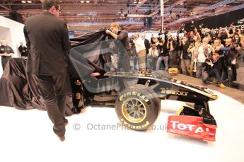 Autosport International 2011. Renault 2011 livery launch. Digital ref : 0046CB1D5934