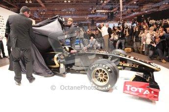 Autosport International 2011. Renault 2011 livery launch. Digital ref : 0046CB1D5941