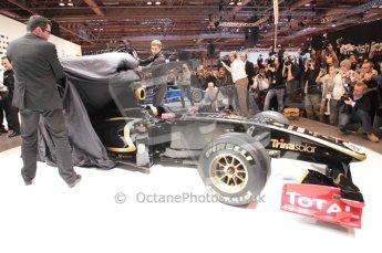 Autosport International 2011. Renault 2011 livery launch. Digital ref : 0046CB1D5944