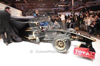 Autosport International 2011. Renault 2011 livery launch. Digital ref : 0046CB1D5946