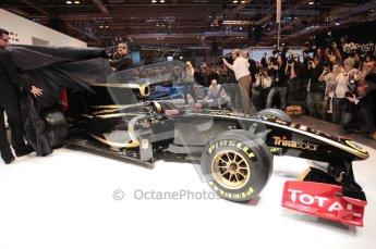 Autosport International 2011. Renault 2011 livery launch. Digital ref : 0046CB1D5952
