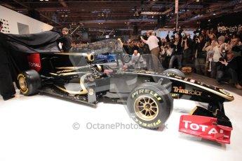 Autosport International 2011. Renault 2011 livery launch. Digital ref : 0046CB1D5959