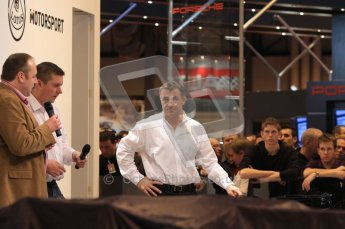 Autosport International 2011. Renault 2011 livery launch. Jean Alesi. Digital ref : 0046LW7D2469