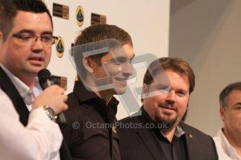 Autosport International 2011. Renault 2011 livery launch. Vitaly Petrov. Digital ref : 0046LW7D2469
