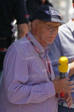 © Octane Photographic Ltd. 2011. European Formula1 GP, Saturday 25th June 2011. GP2 Race 1. Niki Lauda - RTL reporter. Digital Ref: 0085CB1D7811